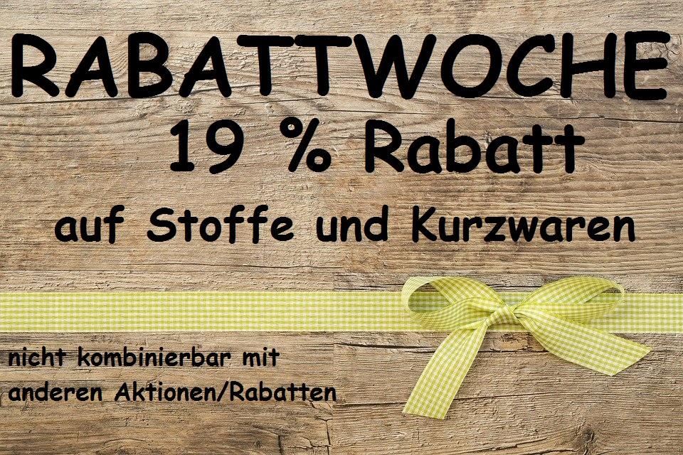 Rabattaktion 19%