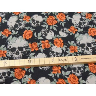 Jersey red Rose and Skulls